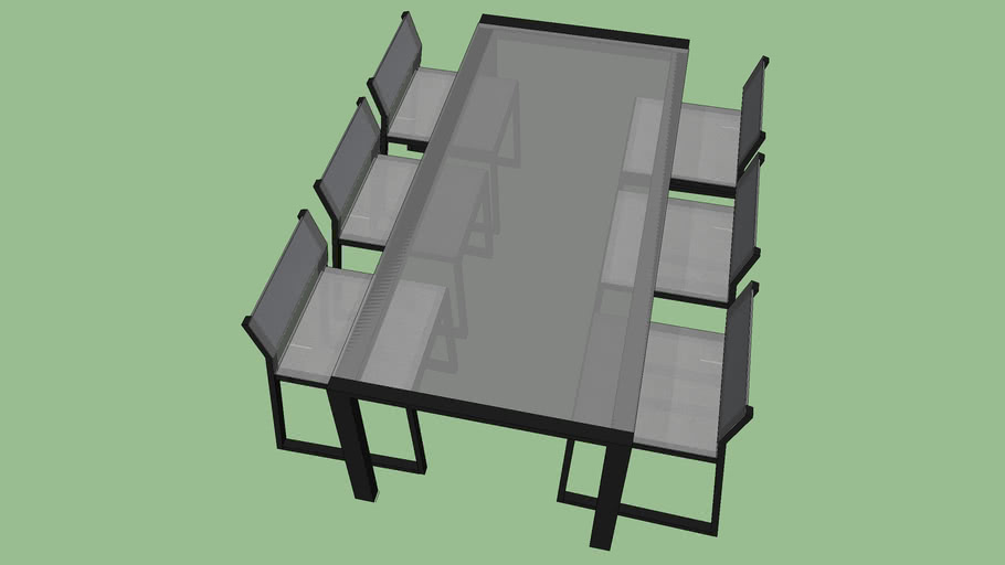 6- Seater Clear Glass Dining Table