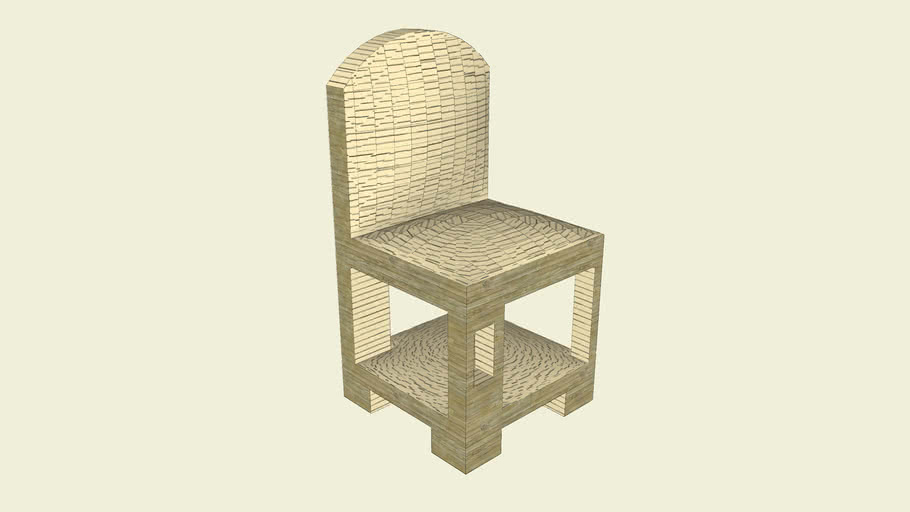 Chair with cat house in