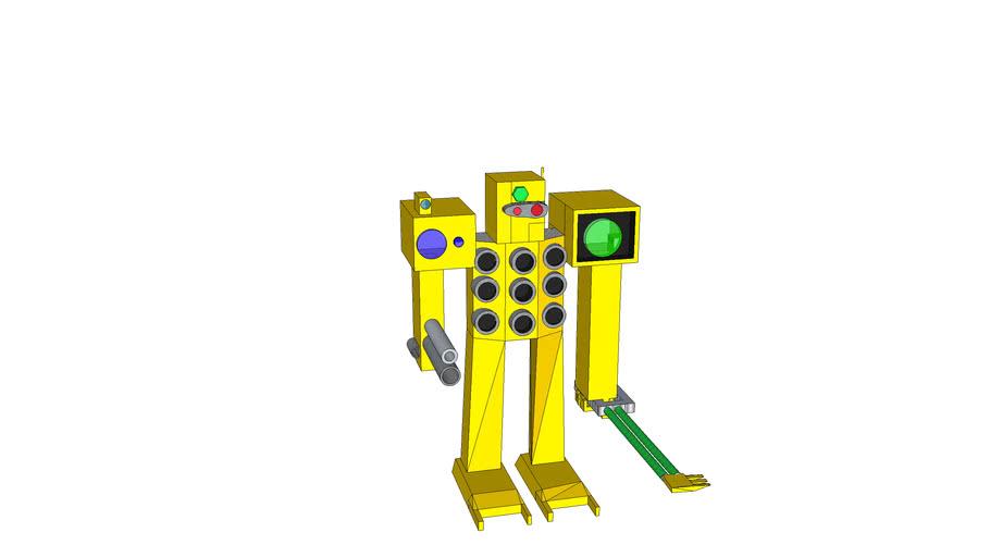 giant cheese robot