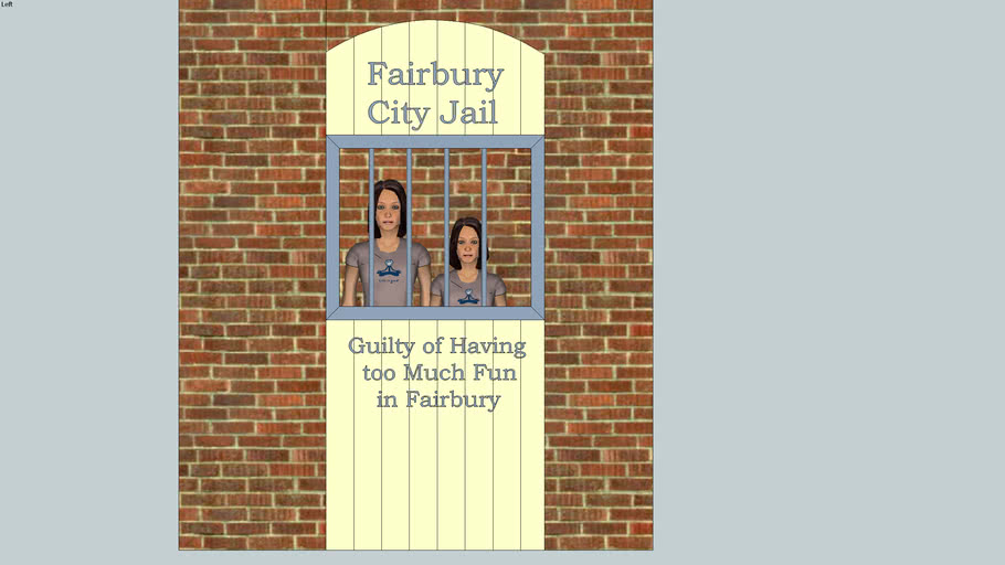 Mock-up City Jail for citizen and tourist Photo Ops