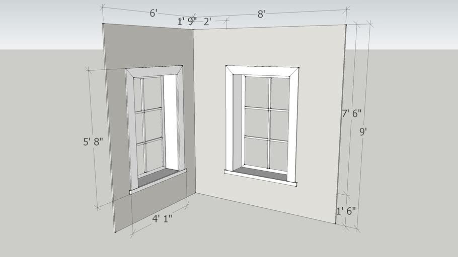 2 window set