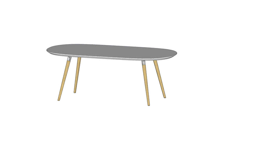 Flux oval table 足形圆角方桌(200x100)