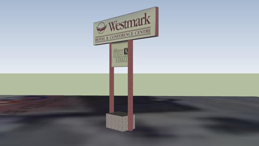 Whitehorse Westmark Hotel Roadsign