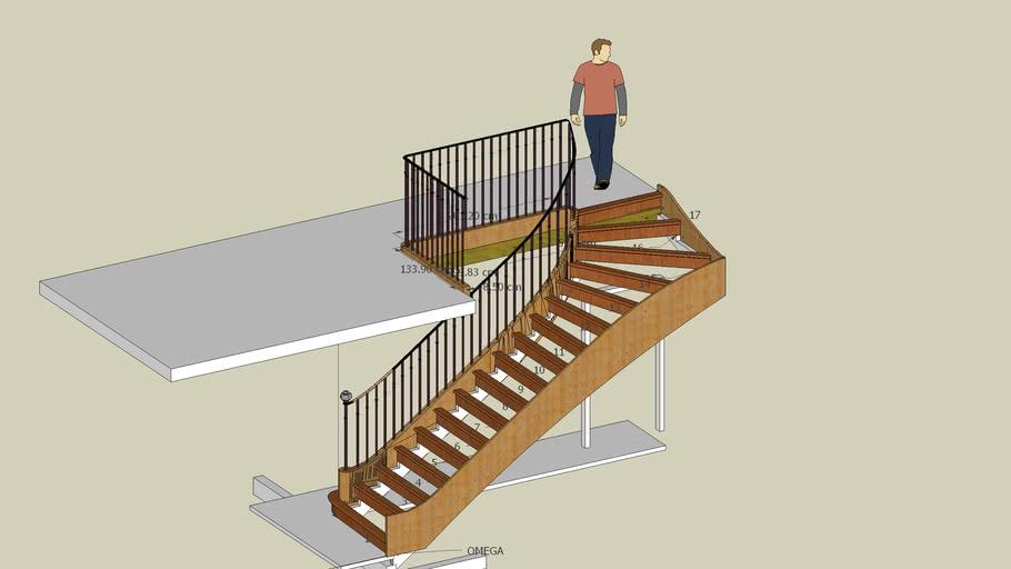 Escalier 18 eme siècle