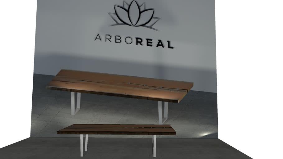 ArboREAL - Mesa de Jantar Madeira com Fenda
