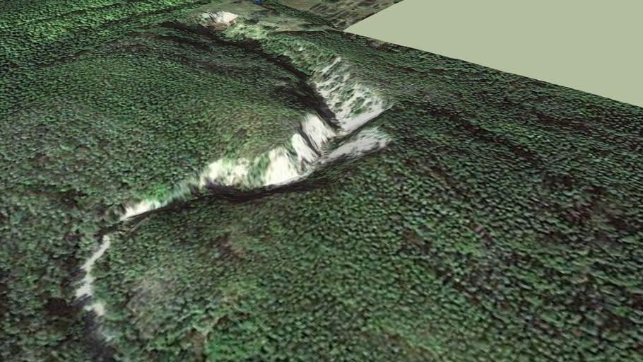 A nyugati bánya legjelentősebb domborzati elemei, látnivalói
