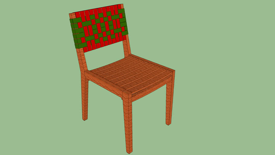 Cadeira Salinas - Vermelho e Verde