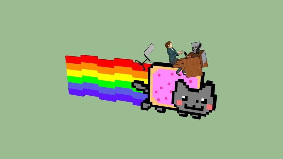 Nyan Cat Office Crash
