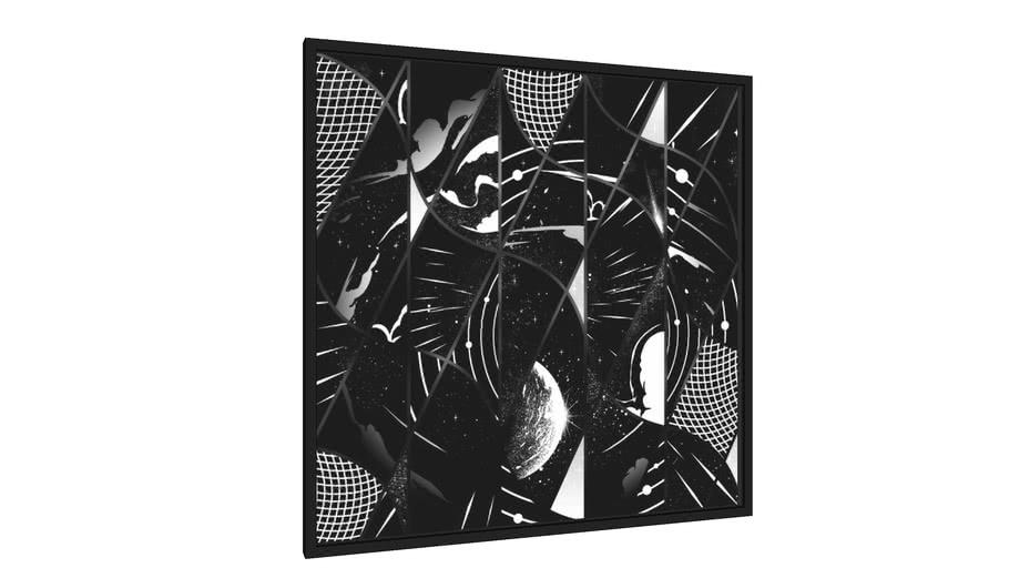 Quadro Geometrixpace - Galeria9, por Samuel Rodrigues