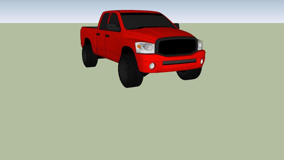 tylers red dodge truck 1500 hemi