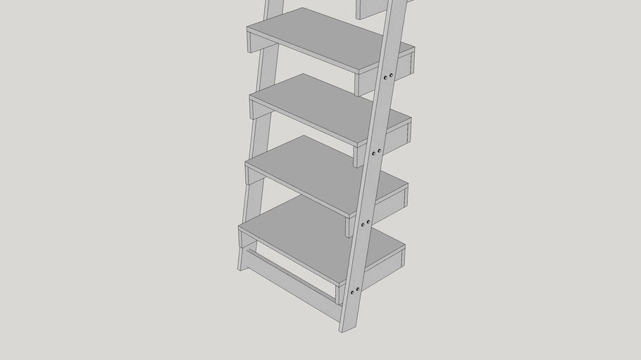 "Erica 69"" Leaning Bookcase"