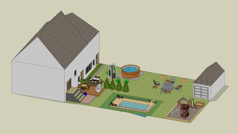 My back yard plan