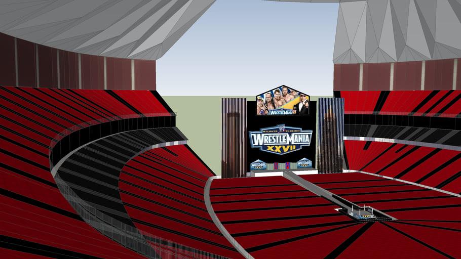 Wrestlemania 27 at the Georgia Dome