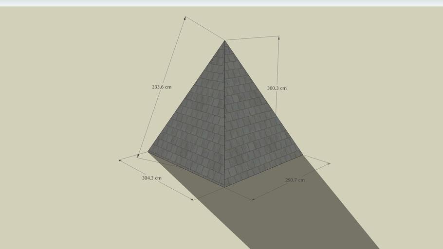 Pyramide mit Bemaßung