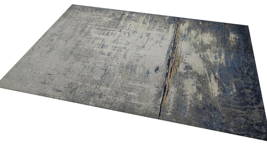 61503 Carpet Abstract Dark Blue 240x170cm