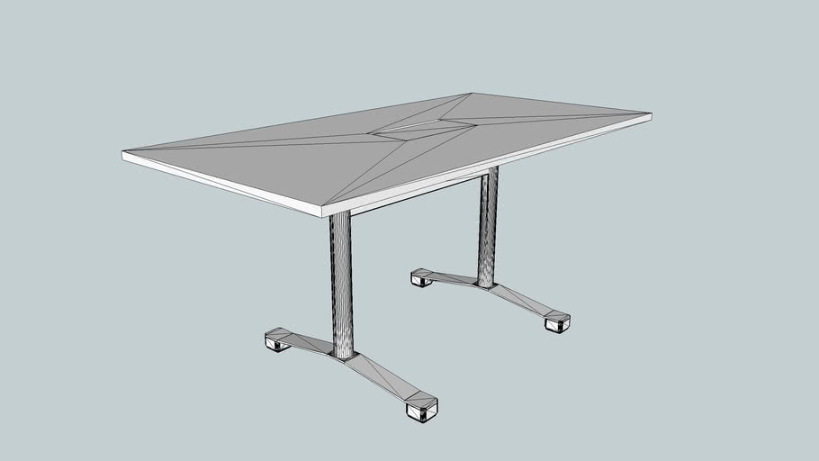 FLITE FLIP TOP TABLE- 1600 x 800mm. CABLE FLAP
