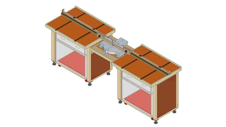Modular Miter Saw Bench