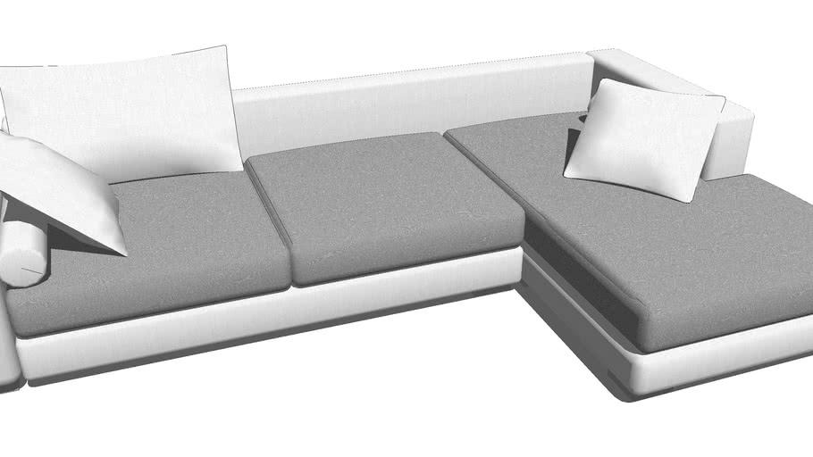 Modern Sofa Large Grey&white