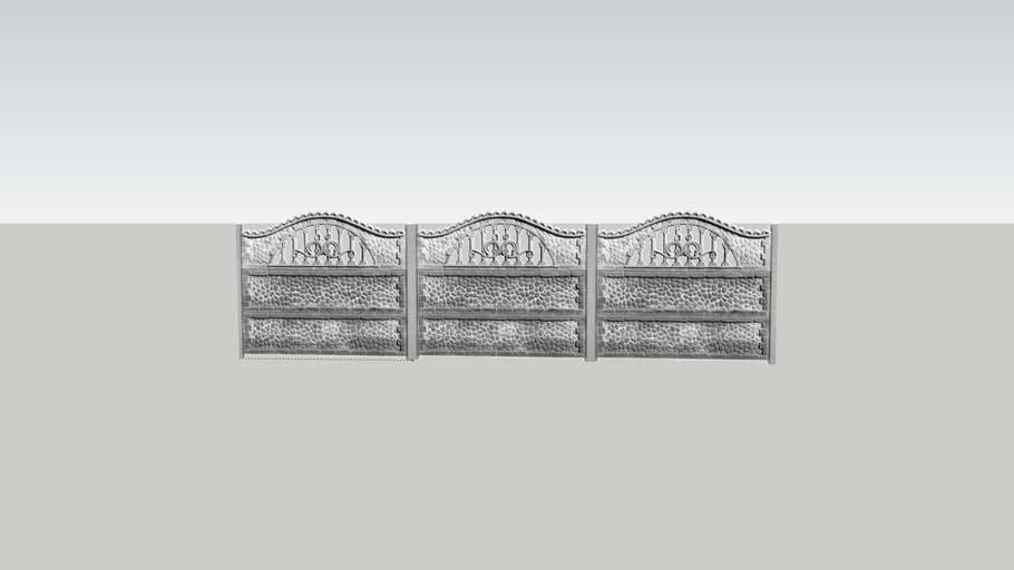 Забор секционный 4