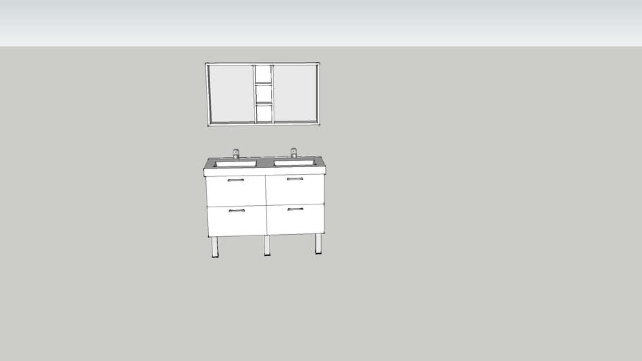 Meuble Salle De Bain Bullaren Ikea 3d Warehouse