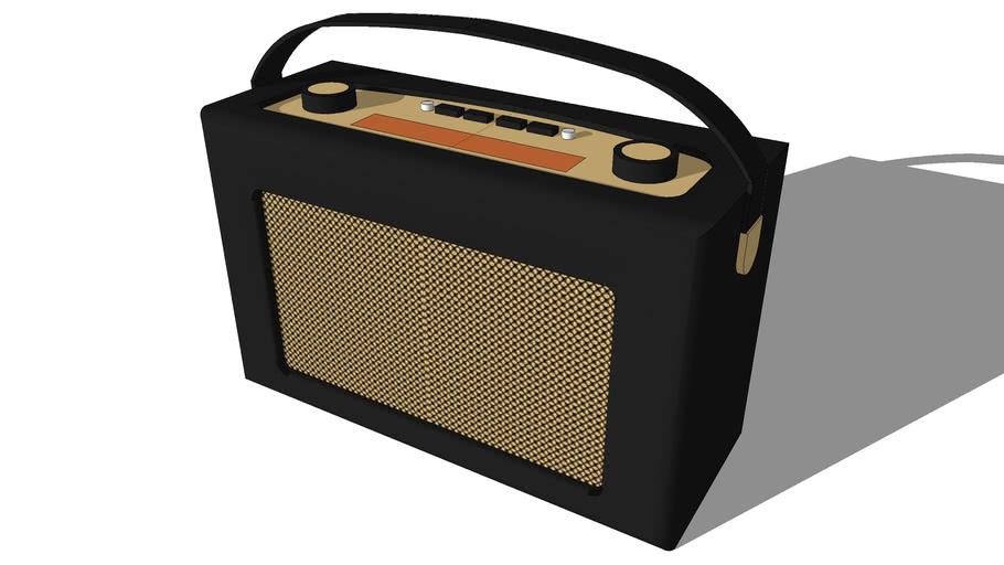 Roberts radio retro black leather