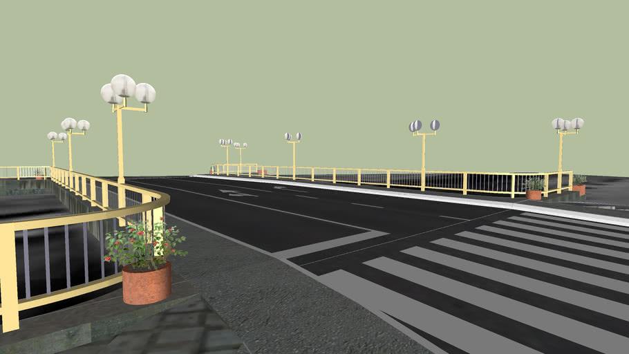 Most preko reke Crnice u centru Paracina
