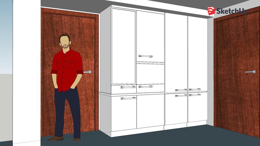 廚房櫃+微波爐