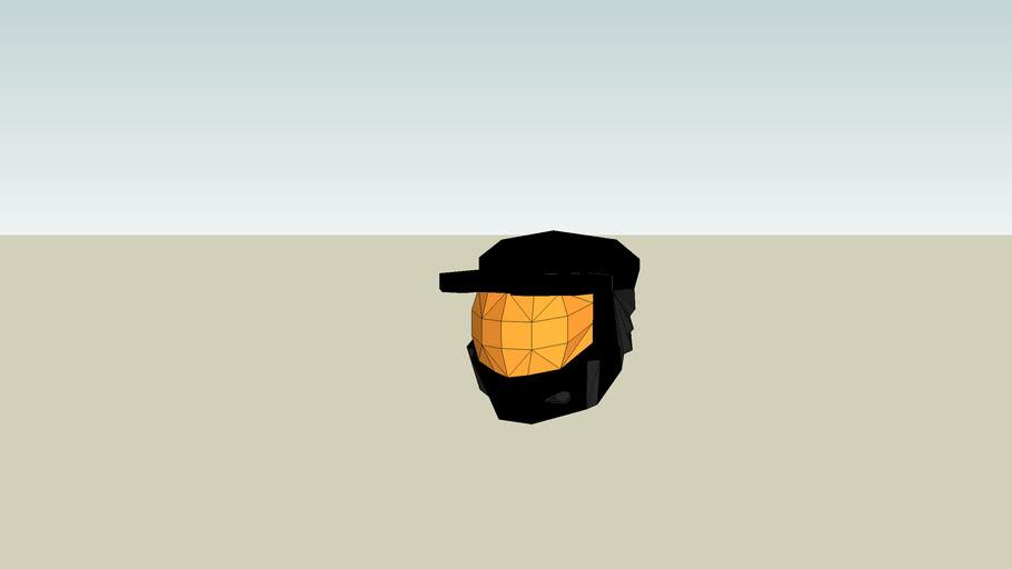 Black spartan helmet