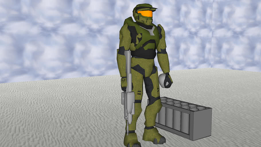 halo Master Chief with a skull