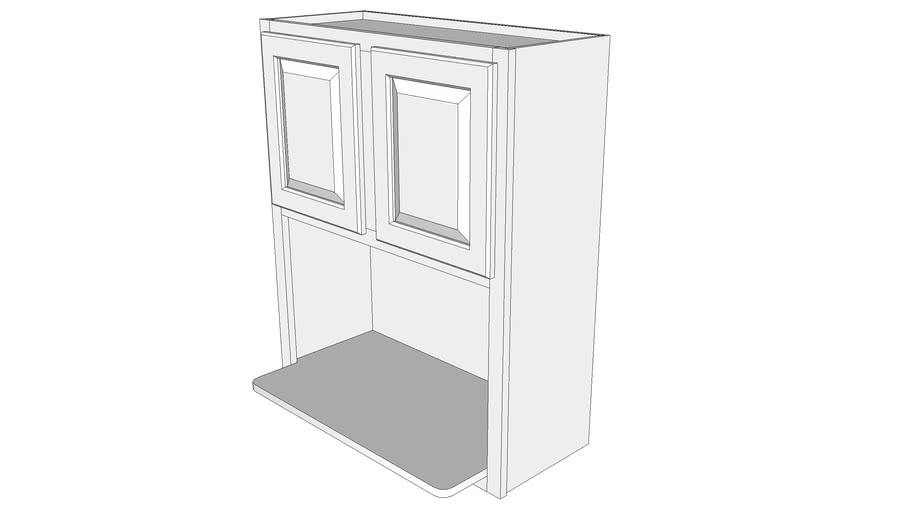 Briarwood Wall Cabinet PMW3036 - Microwave Shelf Cabinet, Two Doors