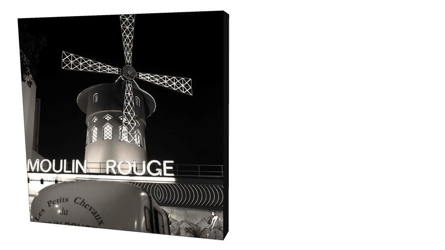 Quadro Dorival Moreira - Coleção Paris: Moulin Rouge