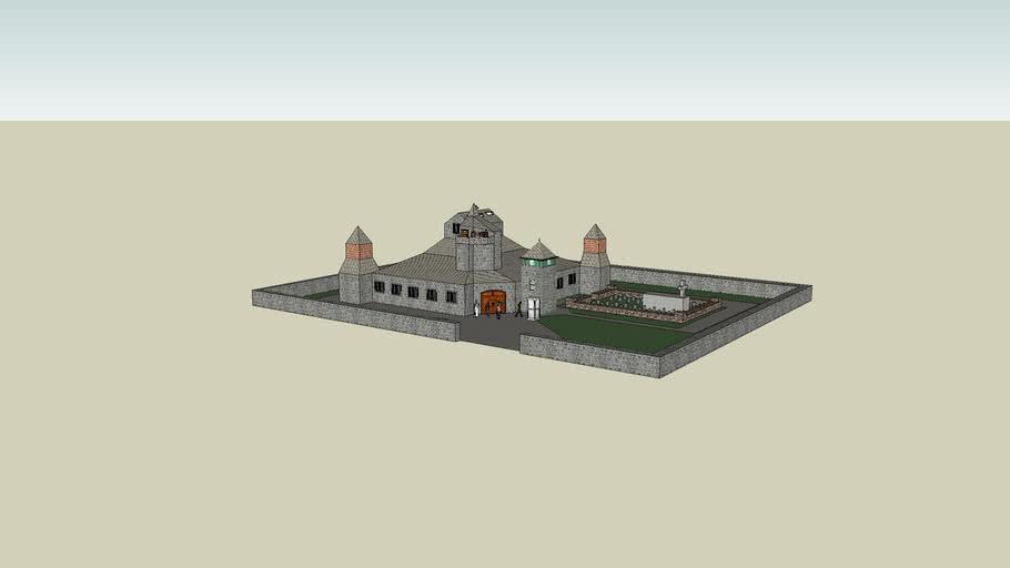 kerk met kerkhof
