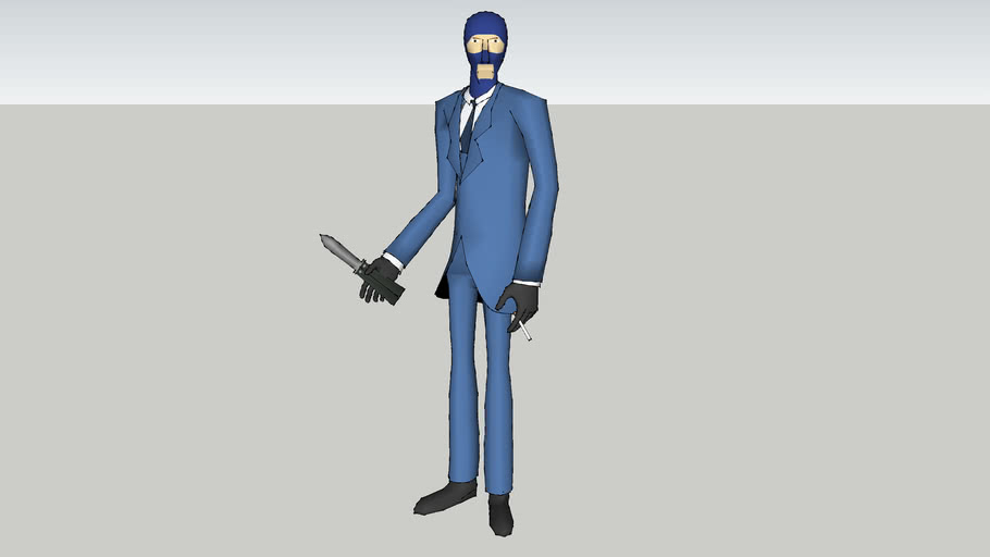 Team Fortress 2 Spy 3d Model Blue 3d Warehouse
