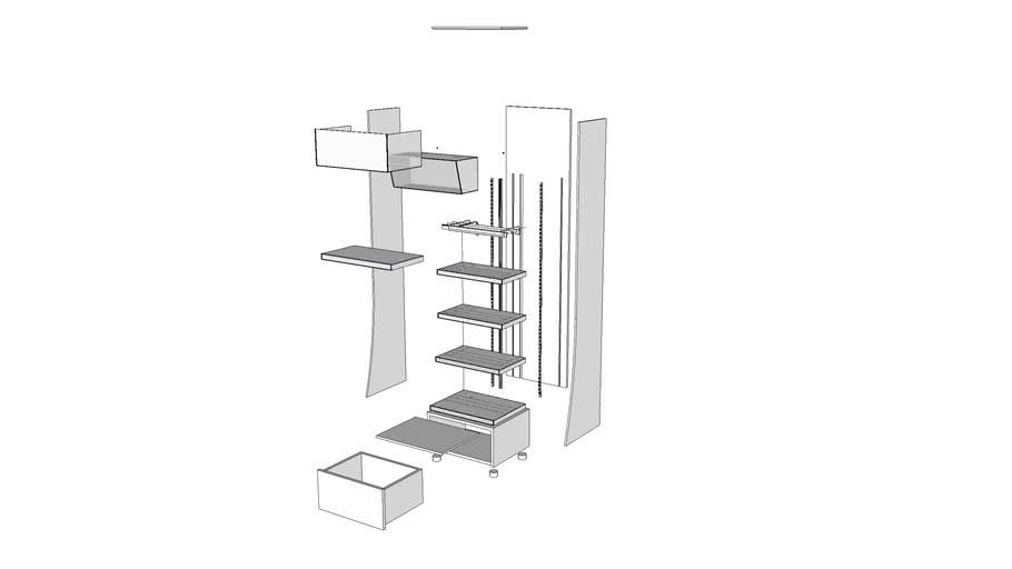 MEKO展示架-分解圖