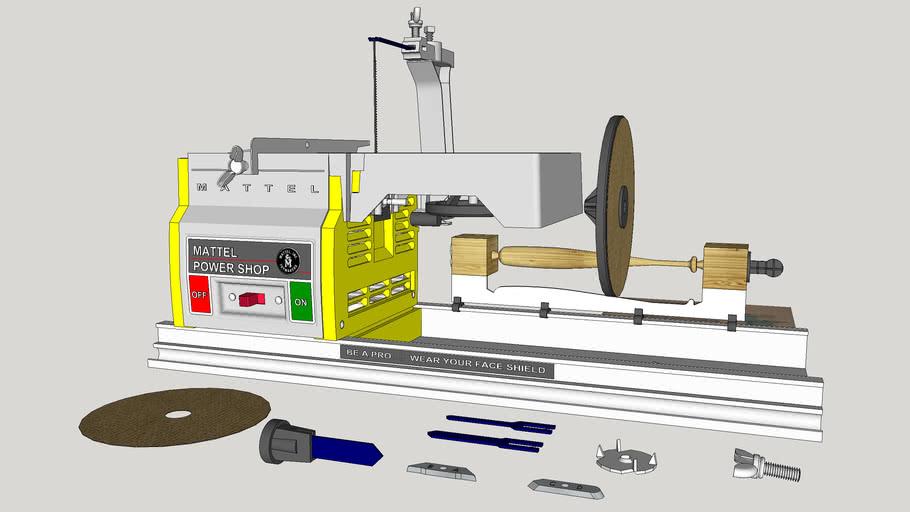 Mattel 4 in 1 Power Shop