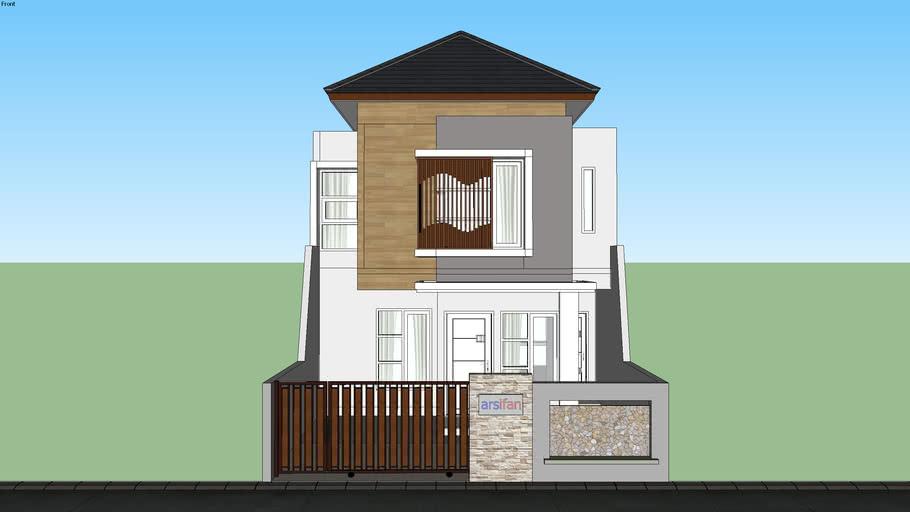 Desain Rumah 2 Lantai Modern House 3d Warehouse
