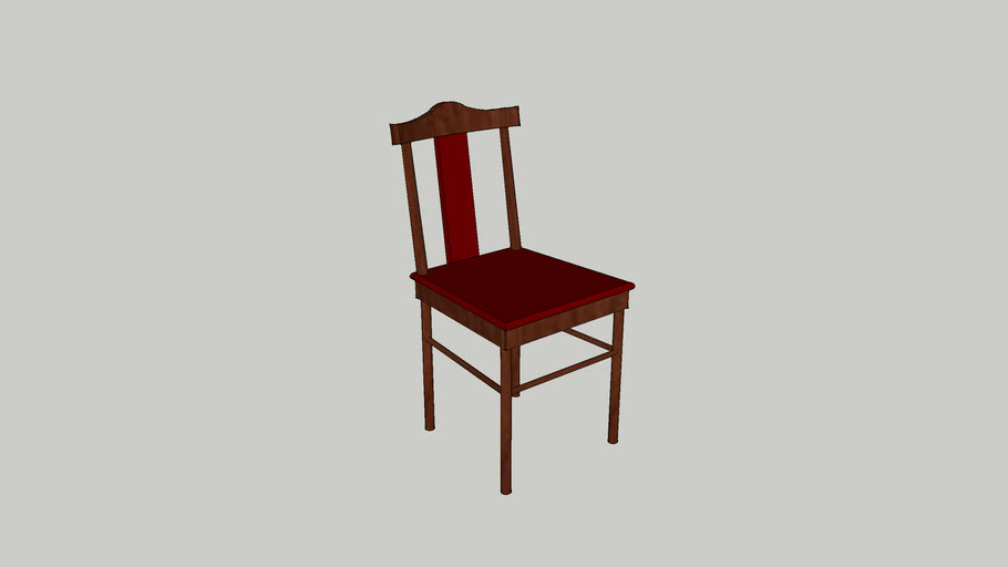 Красный деревяный стул