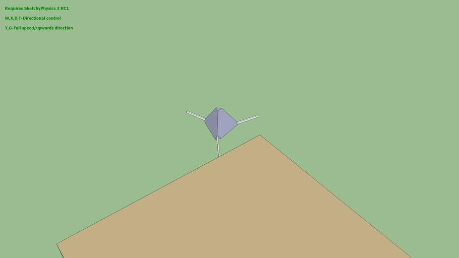 Working Sketchyphysics3 Moon Lander