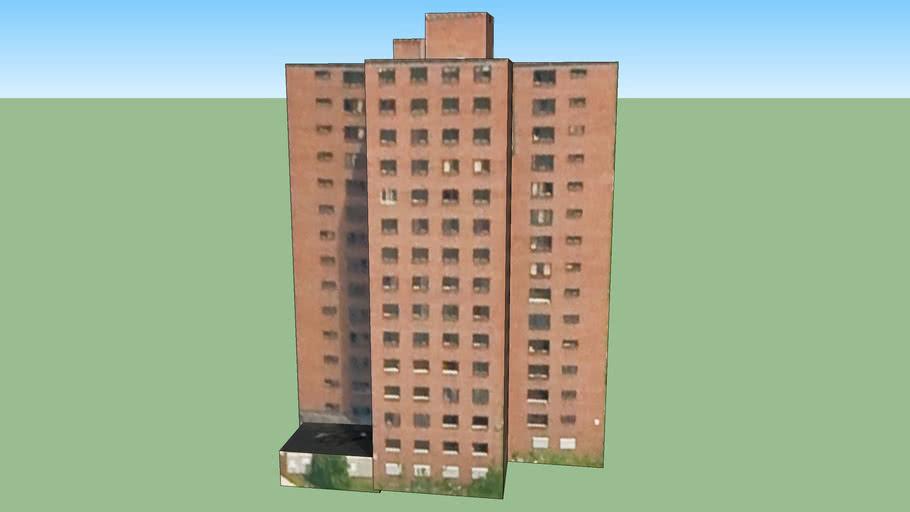 Budynek przy Detroit, MI, USA