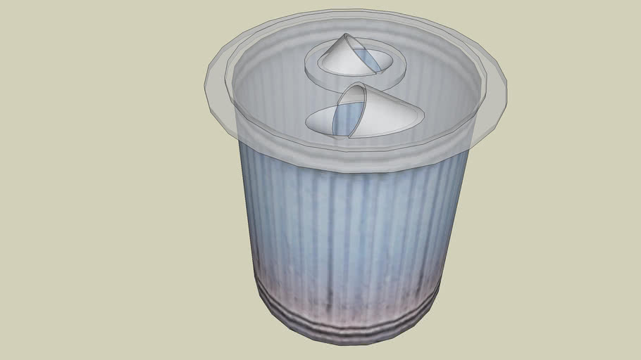 garbage can with clear cyclone lid