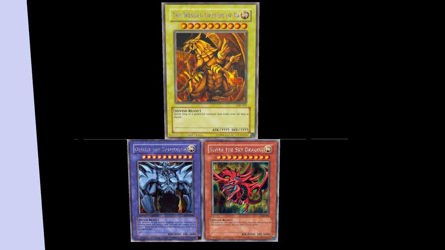 The 3 egyptian god cards