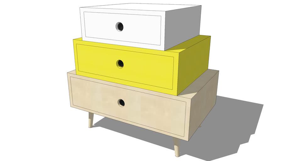 Cabinet DEKALE jaune, Maisons du monde. Réf: 146913 Prix: 99,99 €