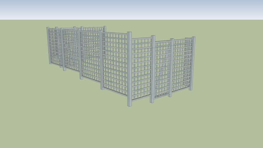 Wood Fence - Square Lattice