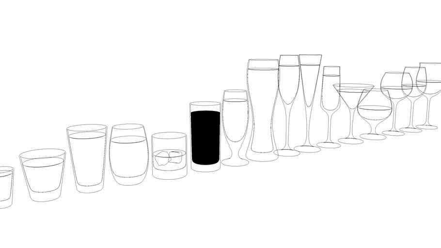 copos e taças de vidro