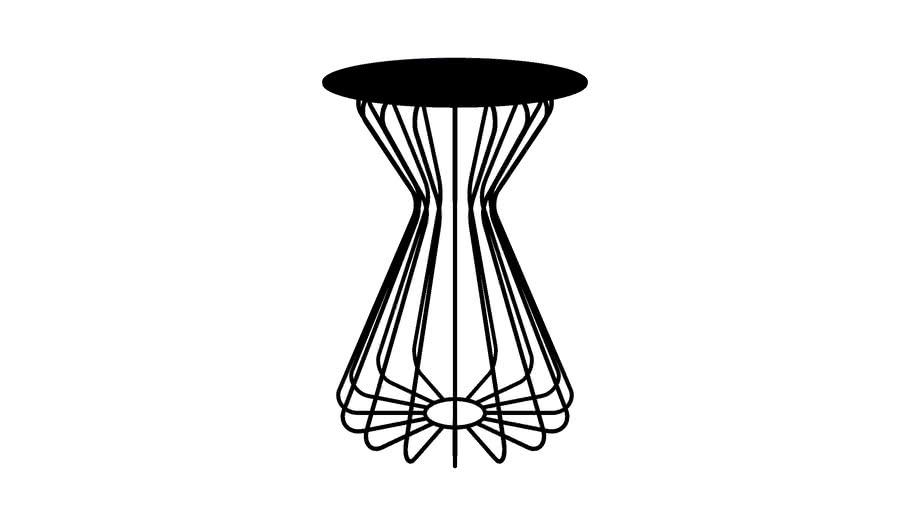notNeutral Accent Ribbon Table TALL Jet Black