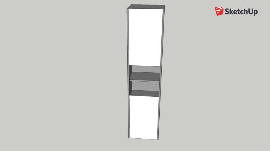 Desire/Devlin Tall Wall Hung Cabinet
