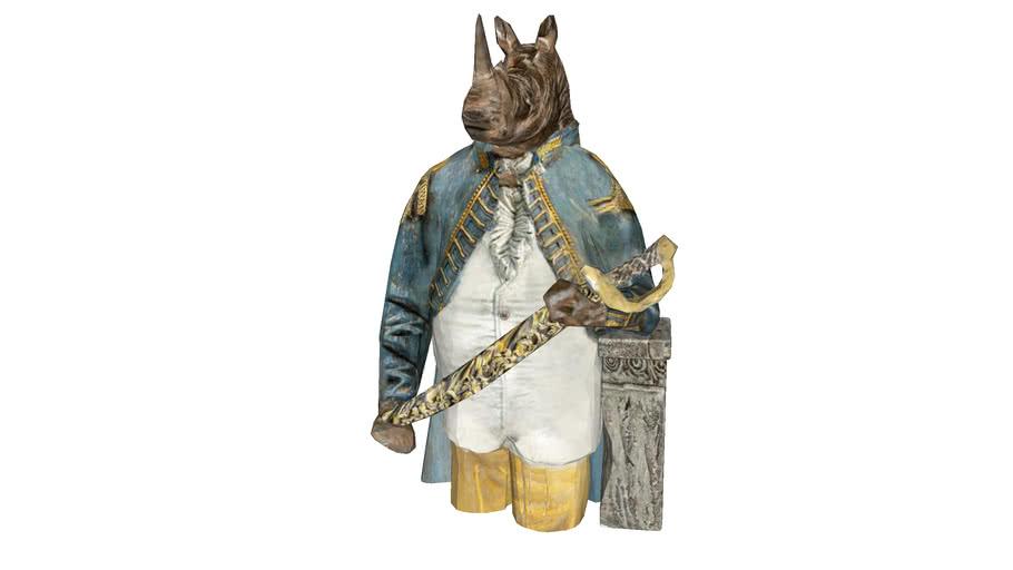 52997 Deco Object Angry Sir Rhino