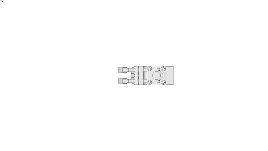 Schwenkeinheit SEK-P2-4 f�r kleine Einbaur�ume mit 2-fach integrierter Luftdurchf�hrung
