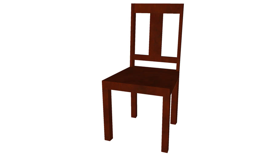 Simple Dining Chair - Detailed