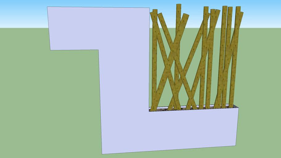 separation avec bambou